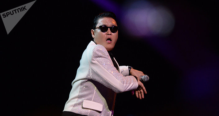 South Korean singer PSY performs at the 2013 Muz-TV Music Awards held at Moscow's Olimpiisky Sports Complex. File photo