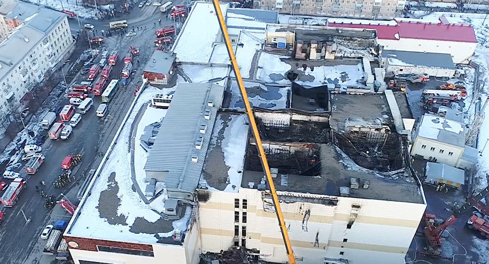 Relief efforts following a deadly fire at the Zimnyaya Vishnya shopping mall in Kemerovo