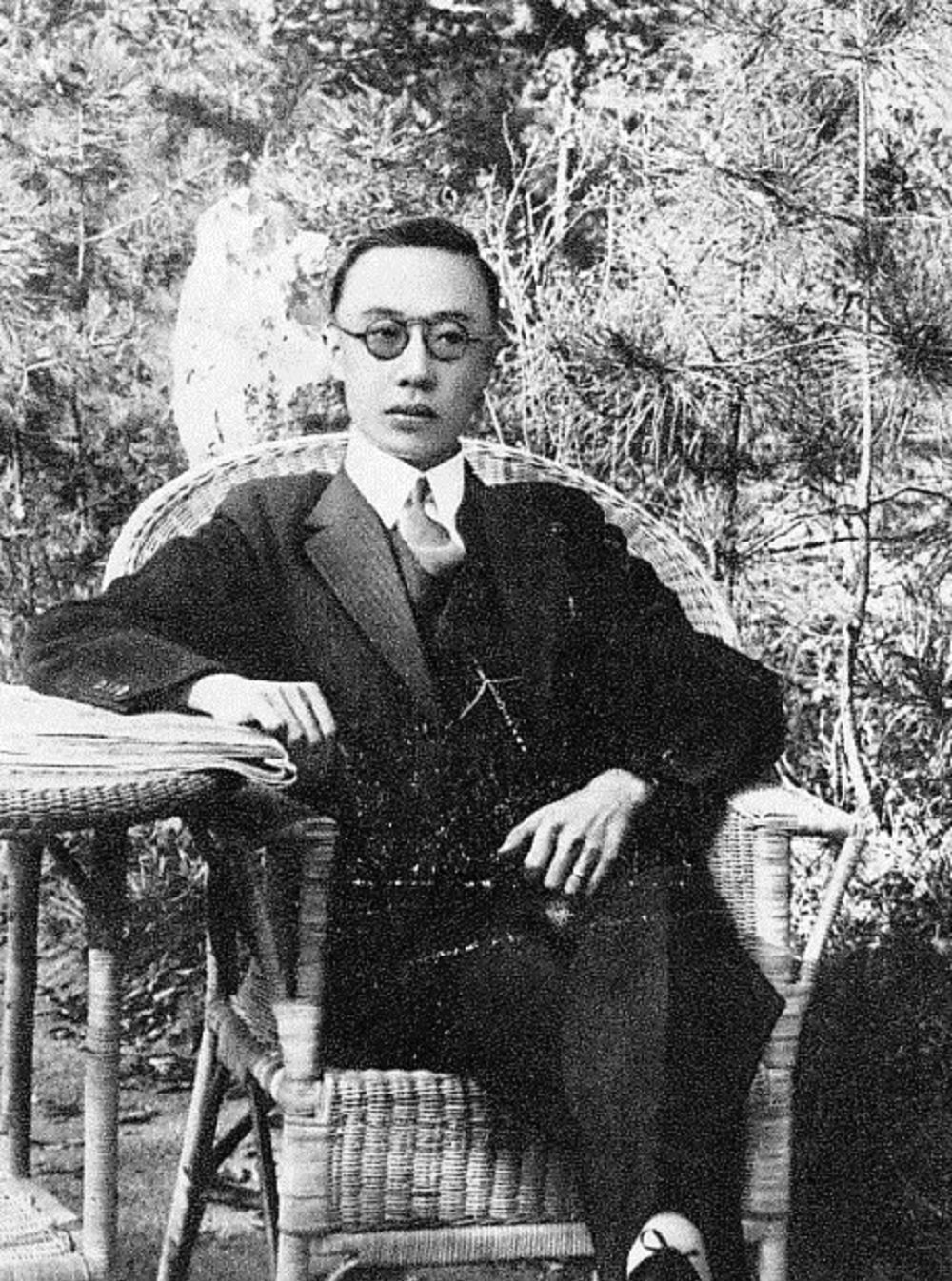 Puyi, emperor of the Japanese puppet state of Manchukuo.