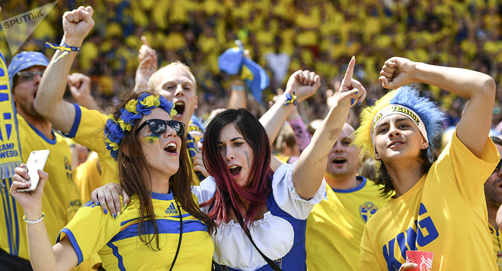 Swedish fans before the UEFA Euro 2016 group stage match between the Italian and Swedish national teams. (File)