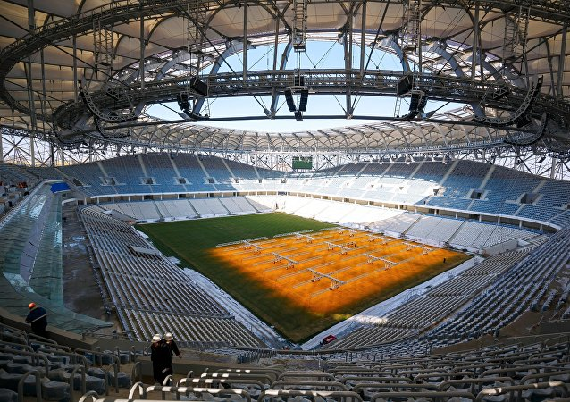 Volgograd Arena in Volgograd, a venue to host the 2018 FIFA World Cup matches