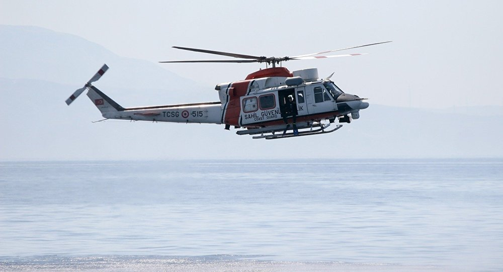 Turkish Coast Guard helicopter