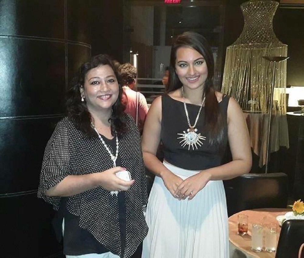 Nandita with Bollywood Star Sonakshi Sinha in Mumbai