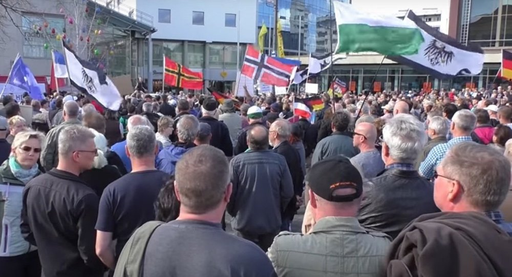 Germany Anti-migrant rally in Cottbus demands closed borders