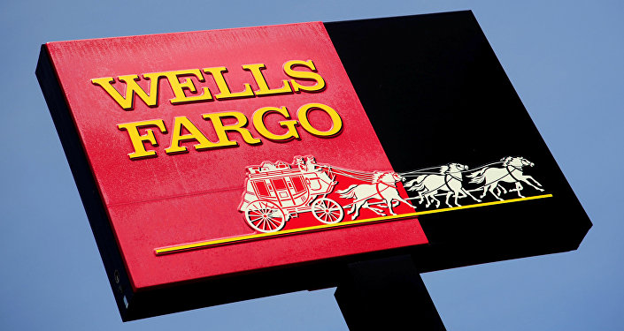 Sign for a Wells Fargo bank in Woodbury, Minnesota. (File)