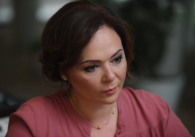 Lawyer Natalya Veselnitskaya during an interview