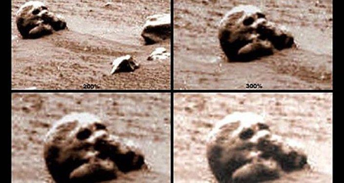 Skull on Mars