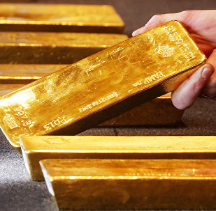 Various gold bars are on display at the Bundesbank headquarter in Frankfurt, Germany (File)