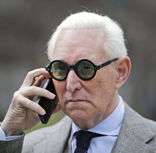 Roger Stone leaves court in New York, Thursday, March 30, 2017.