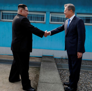North Korea's Leader Kim Jong-un Meets South Korea's President Moon Jae-In