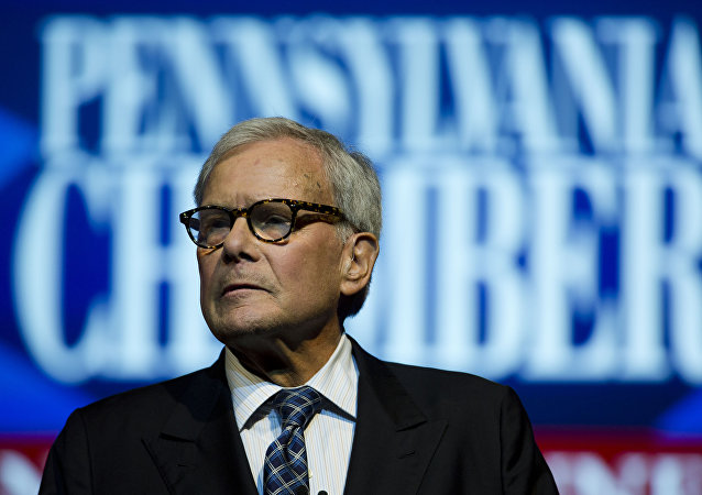 Tom Brokaw speaks at the Pennsylvania Chamber of Business and Industry annual dinner Monday, Sept. 22, 2014, in Hershey, Pa.