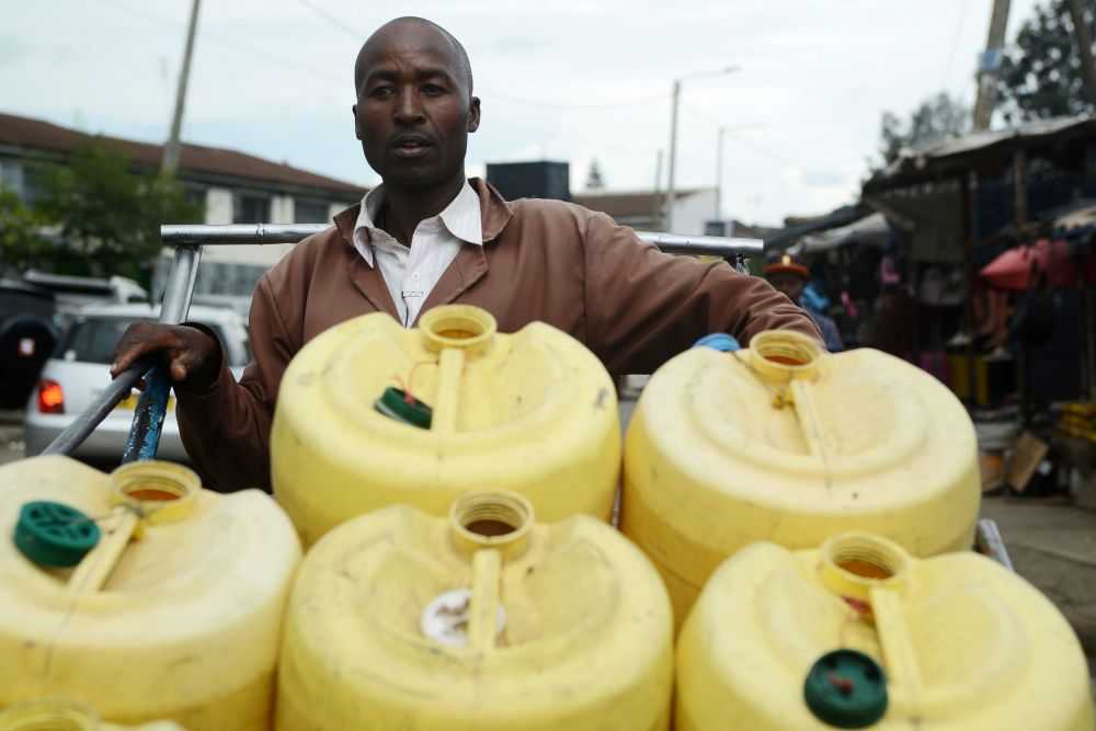 Water Vendor in Nairobi, Kenya