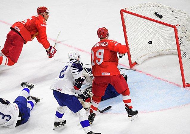 Ice Hockey World Championship. Russia vs. France