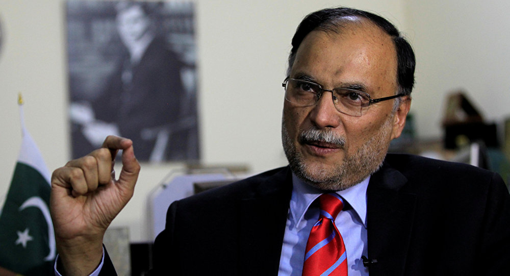 Ahsan Iqbal Pakistan's Minister of Planning and Development speaks with a Reuters correspondent during an interview in Islamabad, Pakistan June 12, 2017. Picture taken June 12, 2017
