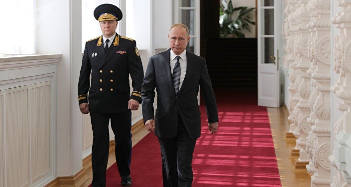 Russian President Vladimir Putin after his inauguration ceremony in the Kremlin