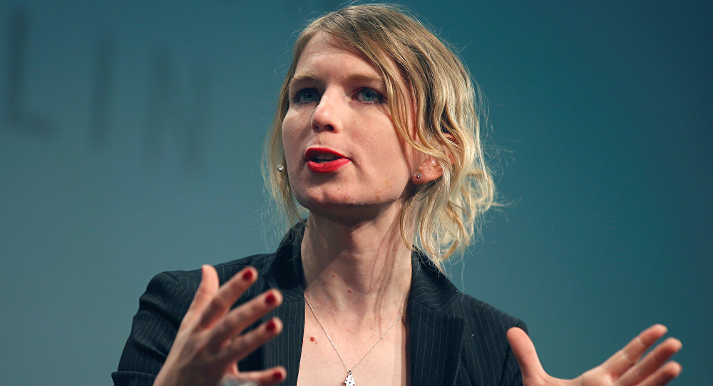 Chelsea Manning speaks at the Re:publica conference in Berlin, Germany, May 2, 2018