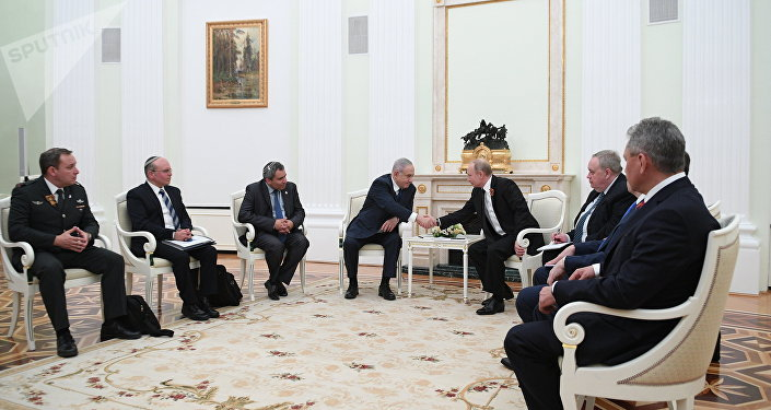 The meeting of Russian President Vladimir Putin with Prime Minister of Israel Benjamin Netanyahu