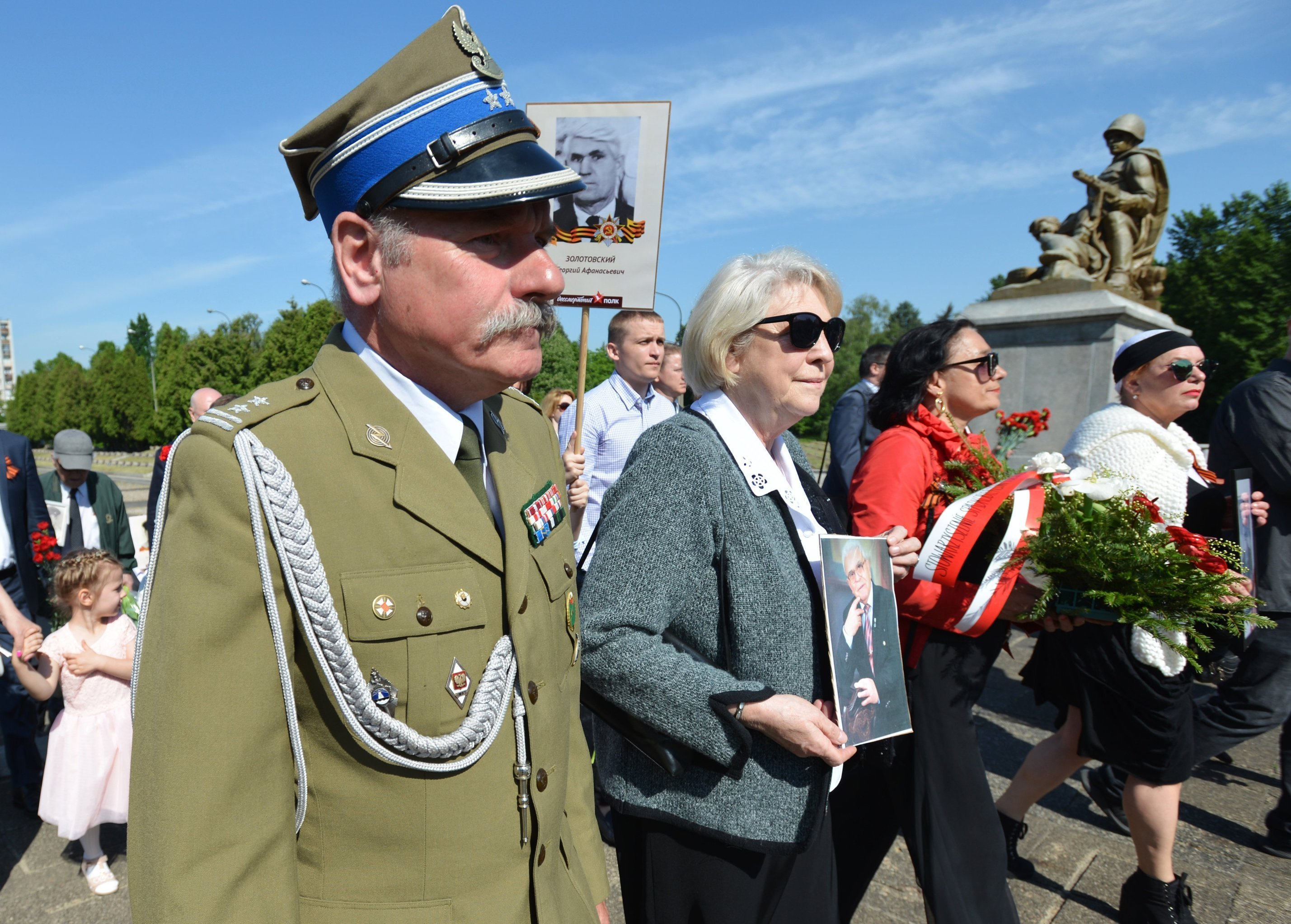 Action Immortal regiment in Warsaw