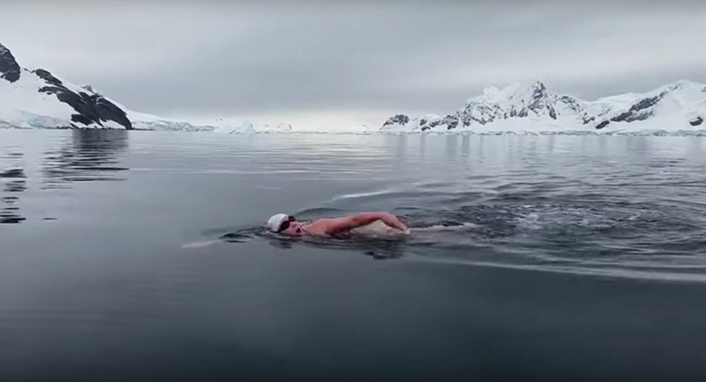 Swimming in Antarctica