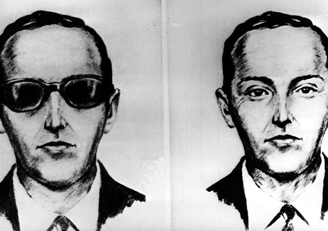 FILE--This undated artist' sketch shows the skyjacker known as D.B. Cooper from recollections of the passengers and crew of a Northwest Airlines jet he hijacked between Portland and Seattle on Thanksgiving eve in 1971