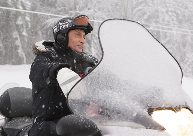 Russian Prime Minister Vladimir Putin at alpine ski resort Krasnaya Polyana. File photo