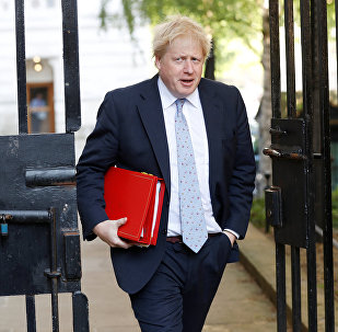 Britain's Foreign Secretary Boris Johnson arrives in Downing Street, in London, May 15, 2018