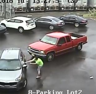 Philadelphia man attacks car and passenger with sledgehammer