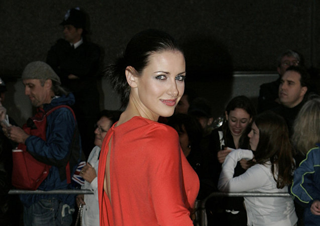 Scottish television presenter Kirsty Gallacher arrives to the Pride of Britain awards at the London Studios in central London, 09 October 2007.