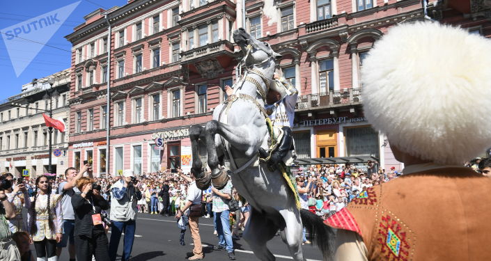 St. Petersburg's Celebrates City Day: Drummers, Bicycles and an Elephant Parade