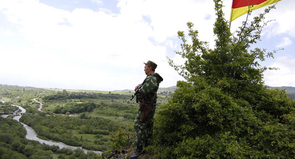Border between Georgia and South Ossetia