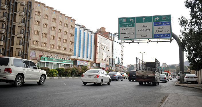 A picture taken on July 28, 2017 shows a general view of a main street in the Saudi city of Taif (File)