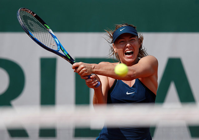 Tennis - French Open - Roland Garros, Paris, France - May 31, 2018 Russia's Maria Sharapova in action during her second round match against Croatia's Donna Vekic