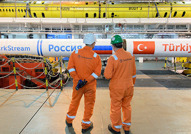 The construction of the Turkish Stream gas pipeline. File photo