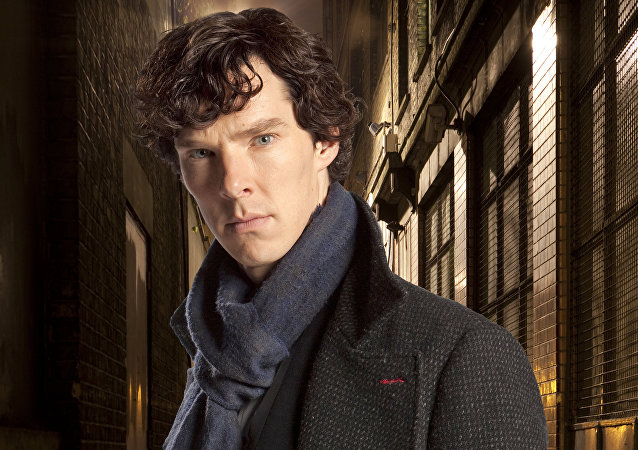 FILE - In this undated file publicity image released by PBS, Benedict Cumberbatch portrays Sherlock Holmes in Sherlock. Producers said Thursday, Dec. 18, 2014, that a play about the cunning detective will come to Broadway in 2017