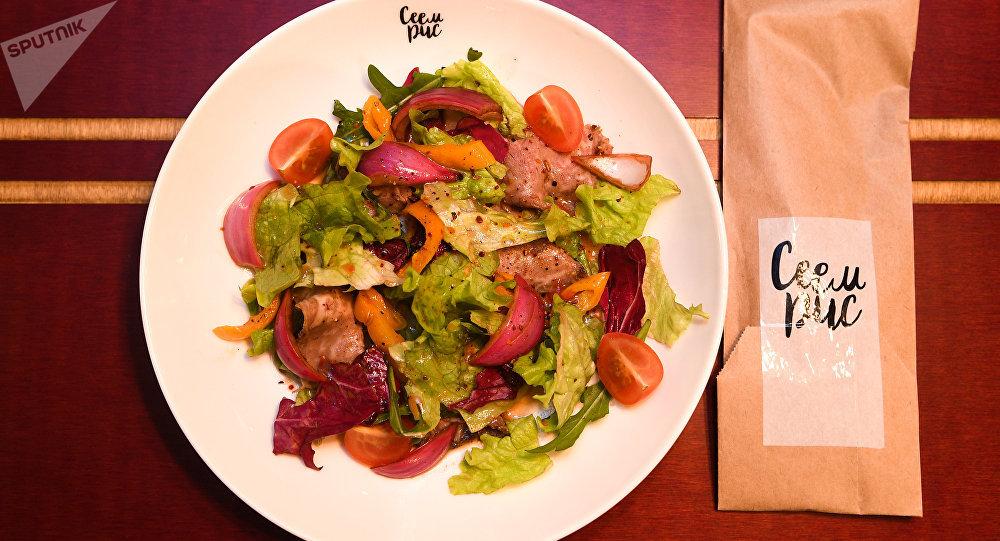 Rice's Roast beef salad