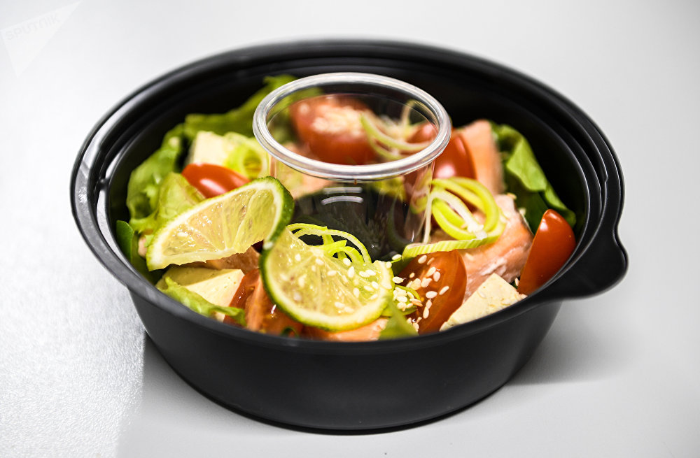 Fresh Diets Food Delivery Service's Salmon salad