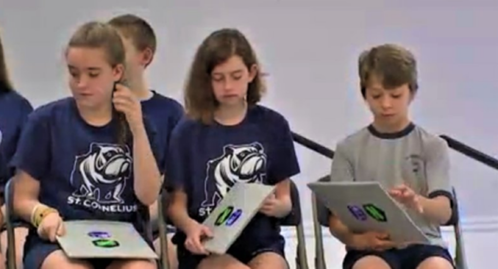 Middle school graduates gifted bulletproof shields, which doesn't inspire confidence