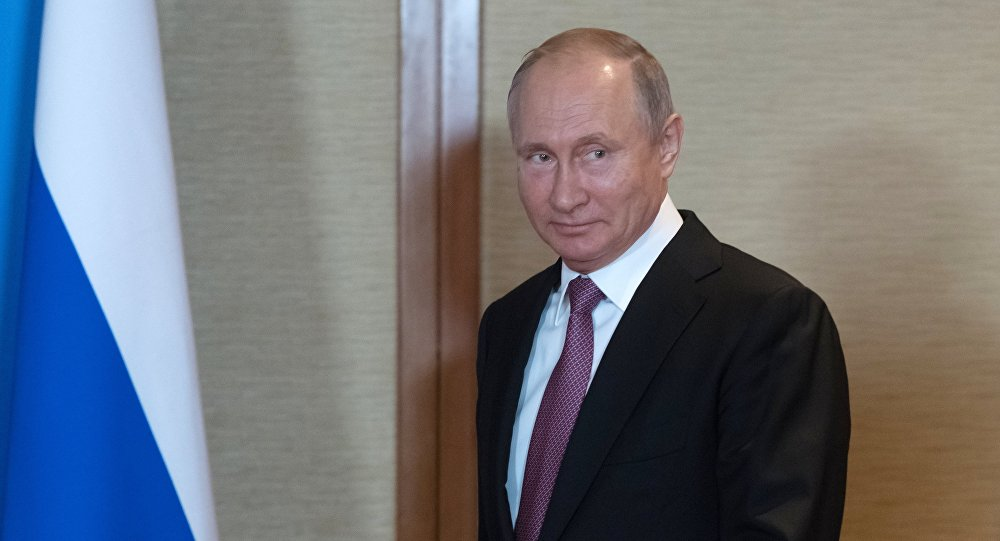 Vladimir Putin at the SCO Summit in Qingdao.
