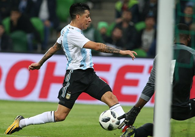 River Plate and Argentina midfielder Enzo Perez.