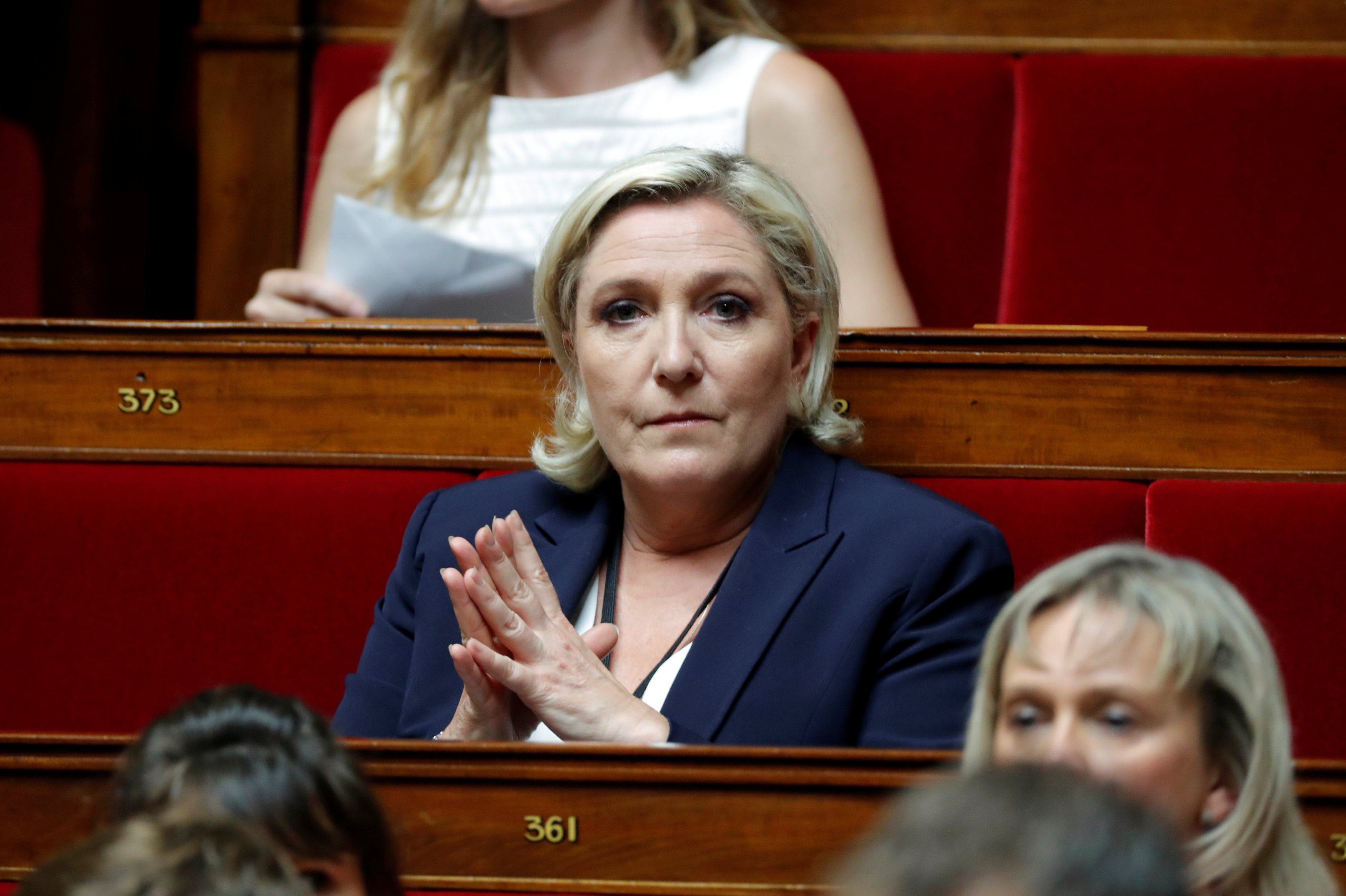 Marine Le Pen of France's far-right National Front (FN) political party at the opening session of the French National Assembly in Paris, France, June 27, 2017