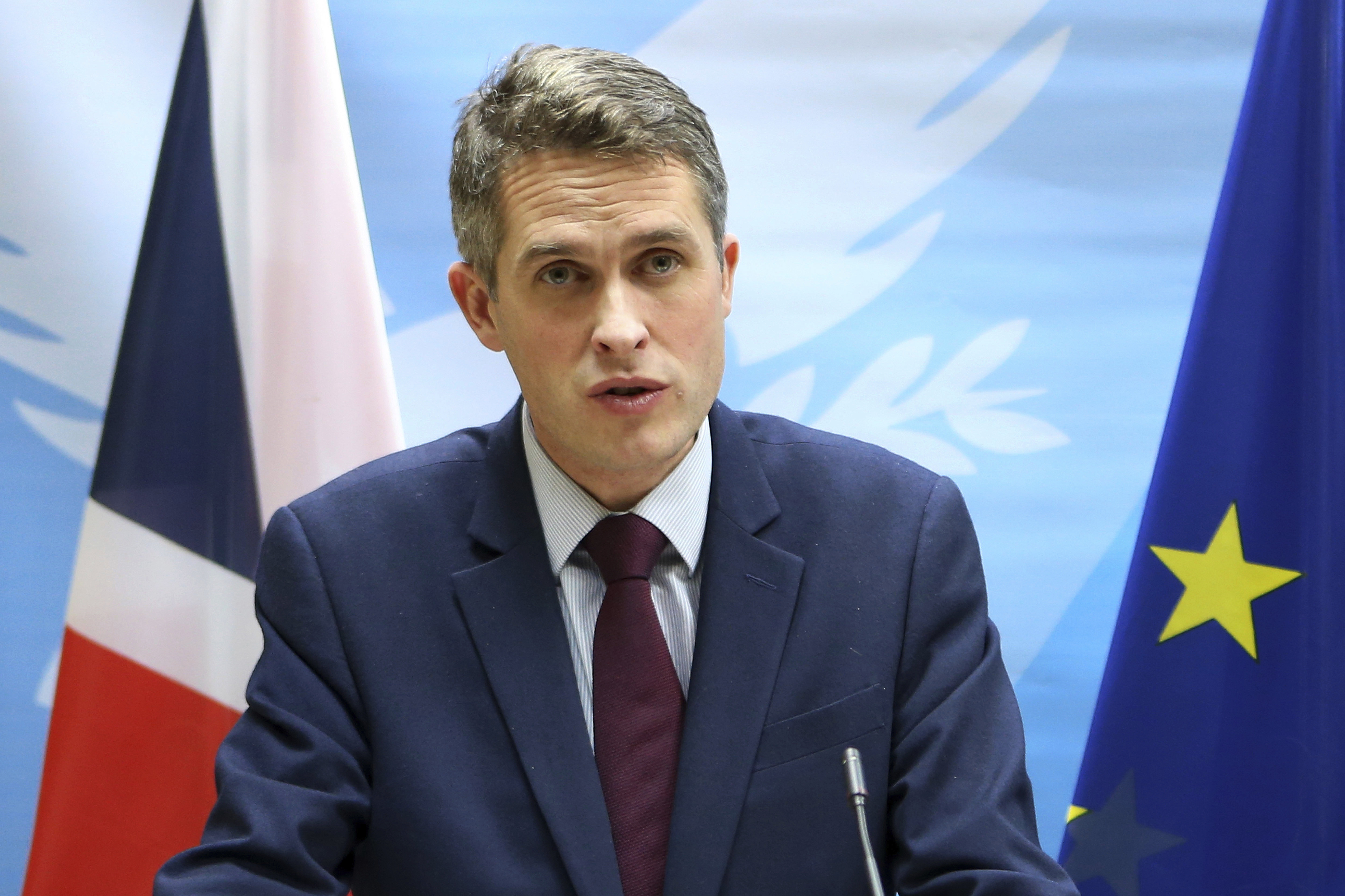 Britain's Defence Secretary Gavin Williamson