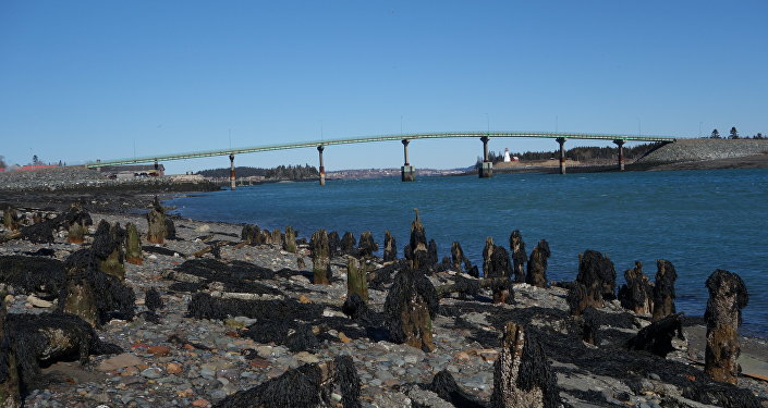 International Bridge between Lubec and Campobello Island