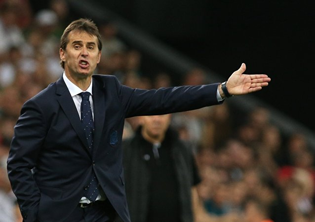 Spain head coach Julen Lopetegui