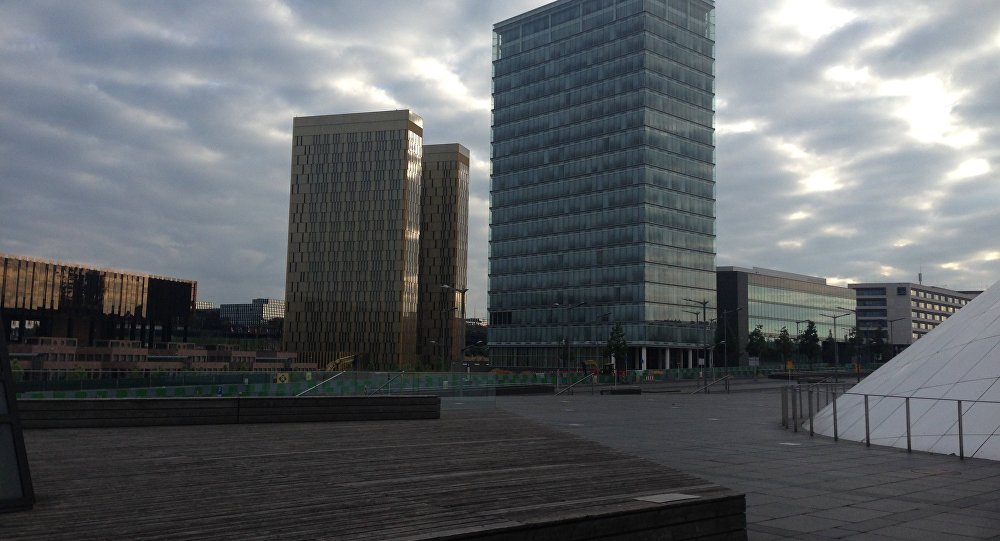 European Court of Justice building (L)