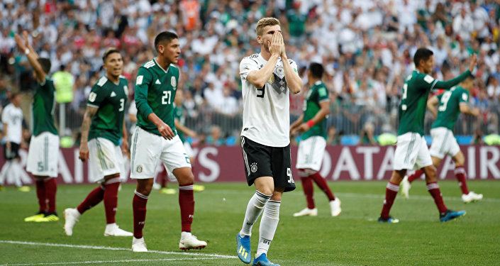 Soccer Football - World Cup - Group F - Germany vs Mexico - Luzhniki Stadium, Moscow, Russia - June 17, 2018 Germany's Timo Werner reacts after a missed chance to score