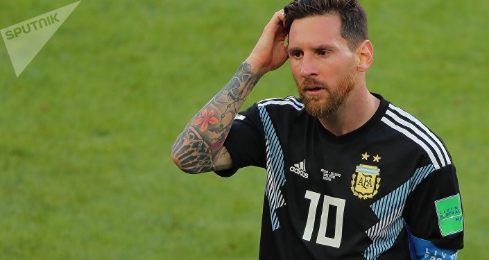 Dejected Argentina's Lionel Messi reacts leaving a pitch after the 1-1 draw at World Cup Group D soccer match between Argentina and Iceland at the Spartak stadium in Moscow, Russia, June 16, 2018