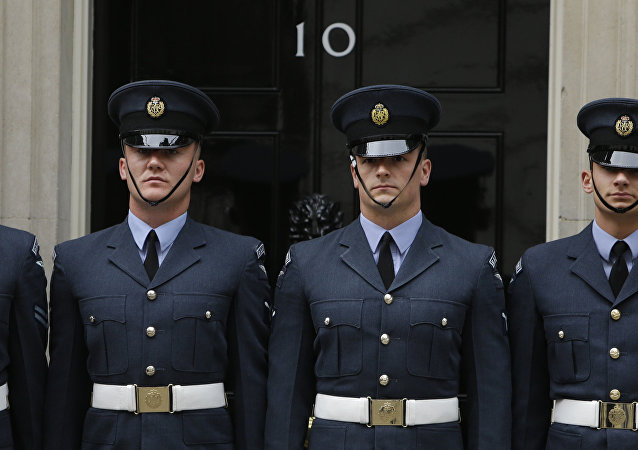 Members of the Royal Air Force guard