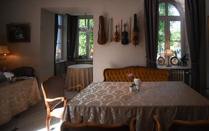 Interior of Kaliningrad's Tchaikovsky Restaurant