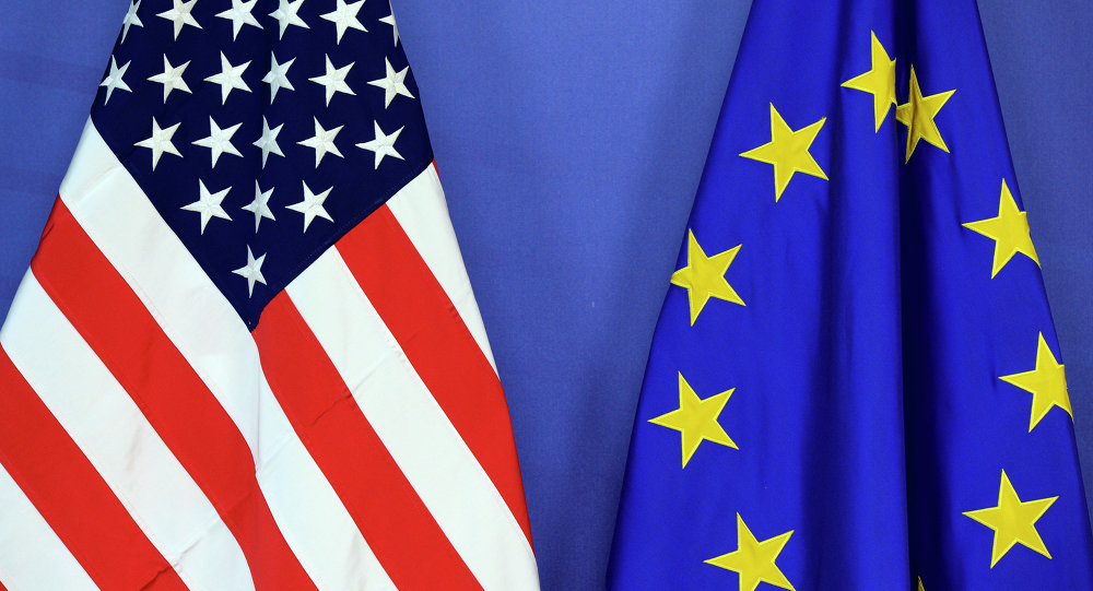 The US and EU flags