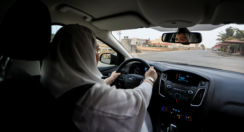 Dr Samira al-Ghamdi, 47, a practicing psychologist, drives around the side roads of a neighborhood as she prepares to hit the road on Sunday as a licensed driver, in Jeddah, Saudi Arabia June 21, 2018